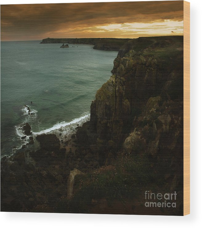 Cliff Wood Print featuring the photograph The Pembrokeshire Cliffs by Angel Ciesniarska