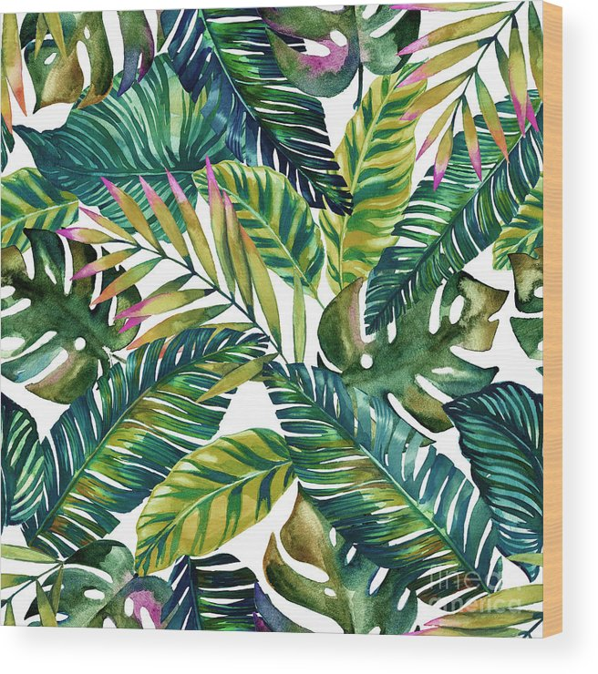 Summer Wood Print featuring the photograph Tropical by Mark Ashkenazi