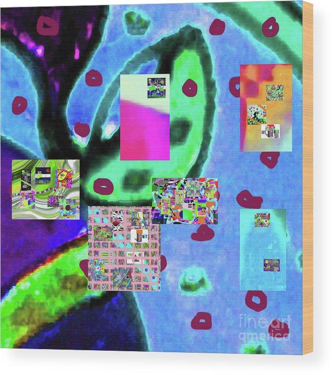 Walter Paul Bebirian Wood Print featuring the digital art 3-3-2016babcdefgh by Walter Paul Bebirian