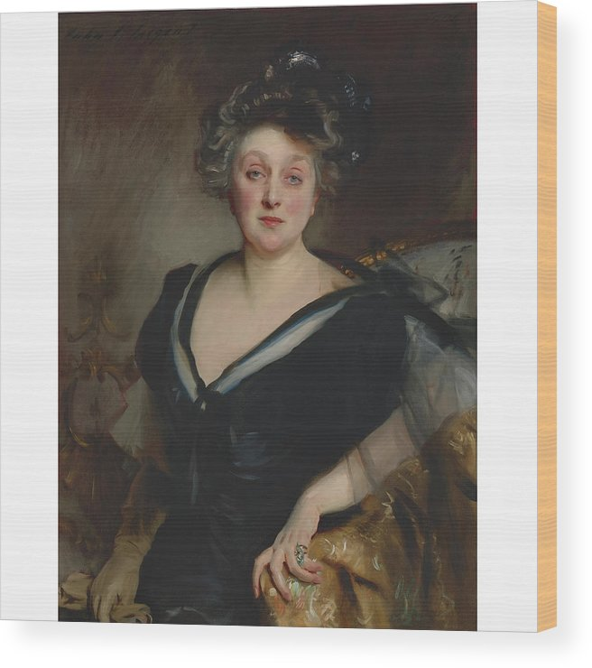 John Singer Sargent 1856 - 1925 Mrs. George Mosenthal Wood Print featuring the painting George Mosenthal by John Singer
