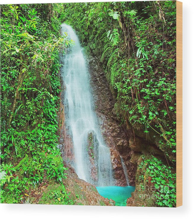 Pool Wood Print featuring the photograph Waterfall by MotHaiBaPhoto Prints