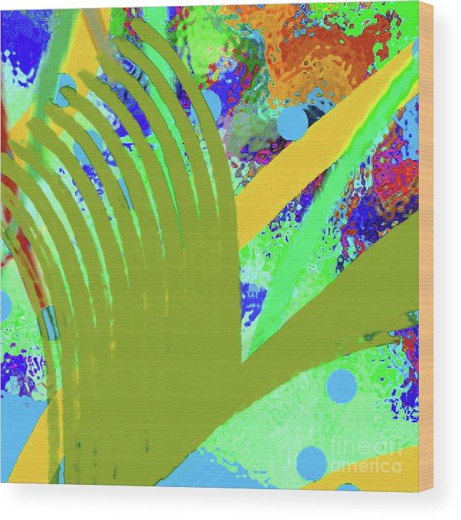 Walter Paul Bebirian Wood Print featuring the digital art 8-27-2015cabcdefghijklmnopq by Walter Paul Bebirian