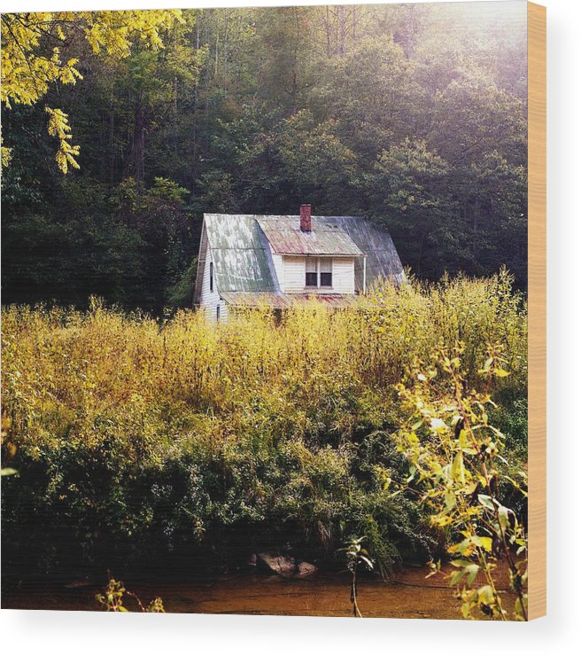Farm Wood Print featuring the photograph Abandoned Farm Home by George Ferrell