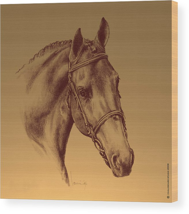 Horse Wood Print featuring the digital art Achilles by Laurie Musser