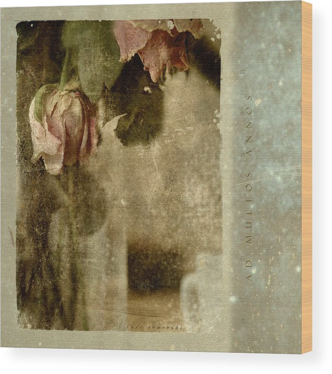 Flowers Wood Print featuring the photograph Ad Multos Annos by Inesa Kayuta