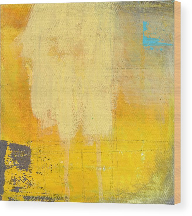 Abstract Wood Print featuring the painting Afternoon Sun -large by Linda Woods