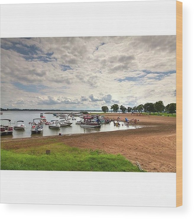 Rendlake Wood Print featuring the photograph Americans At Play  South Marcum by Larry Braun