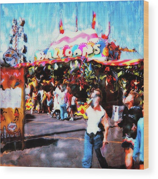 Paul Tokarski Wood Print featuring the photograph Balloon House by Paul Tokarski