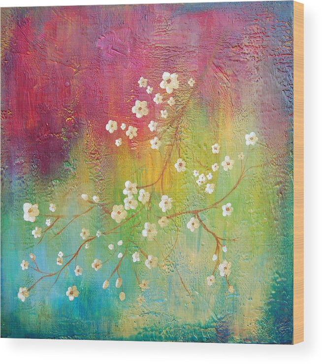 Bright Wood Print featuring the painting Blossom by Joya Paul