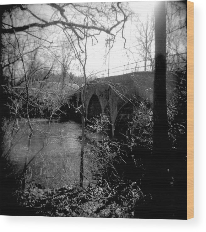 Photograph Wood Print featuring the photograph Boiling Springs Bridge by Jean Macaluso