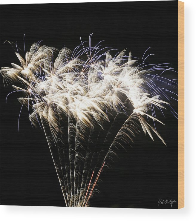 July 4th Wood Print featuring the photograph Bright Lights by Phill Doherty