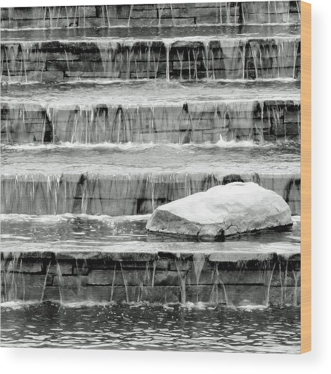 Water Wood Print featuring the photograph Cascade by Slade Roberts