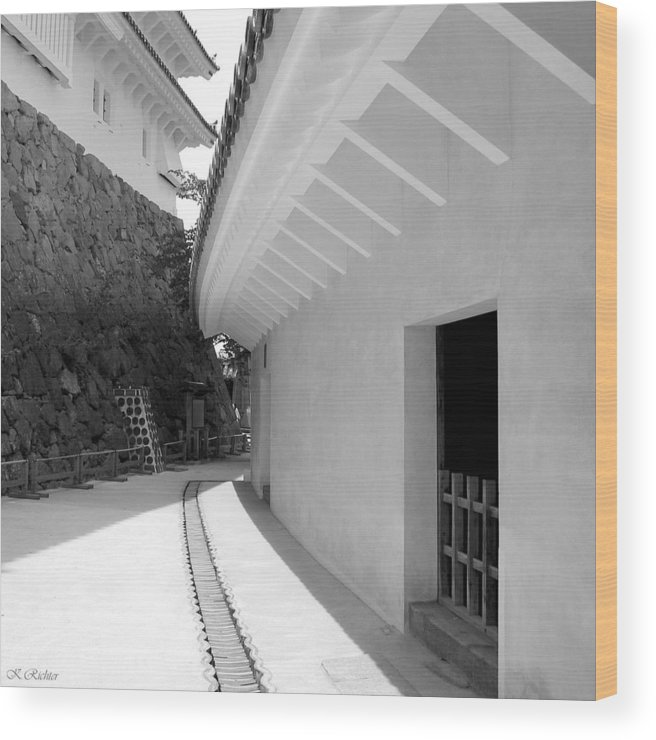 Japan Wood Print featuring the photograph Castle Wall by Keiko Richter