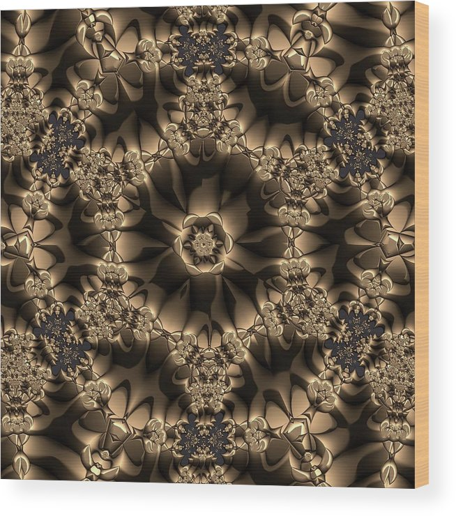 Light Wood Print featuring the digital art Crystal 20 by Robert Thalmeier