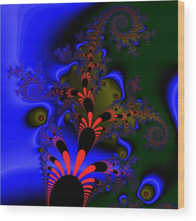 Fractal Wood Print featuring the digital art Diesseogge by Andrew Kotlinski