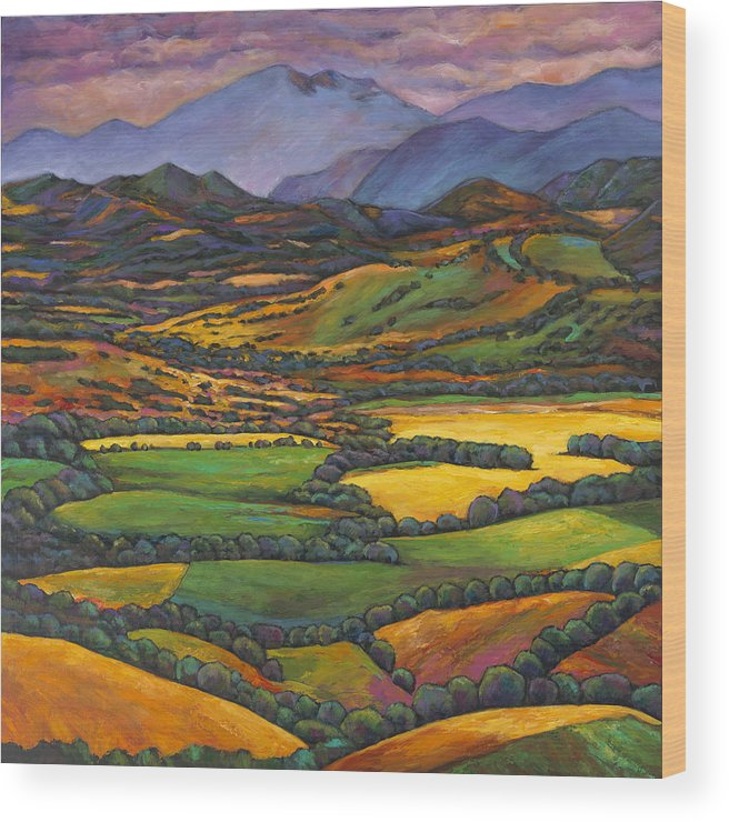 European Landscape Wood Print featuring the painting Draped In A Dream by Johnathan Harris