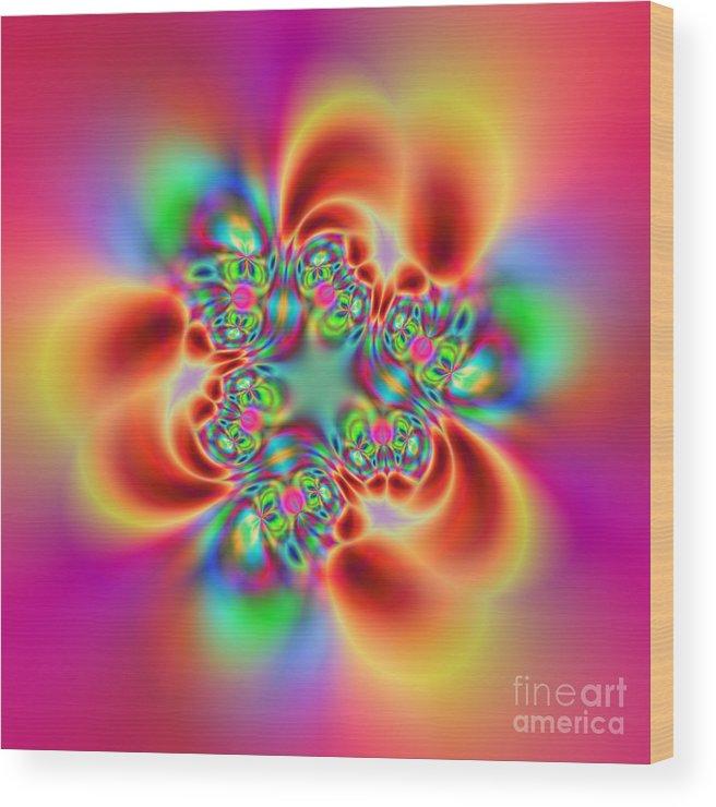 Colorful Wood Print featuring the digital art Flexibility 18bb by Rolf Bertram