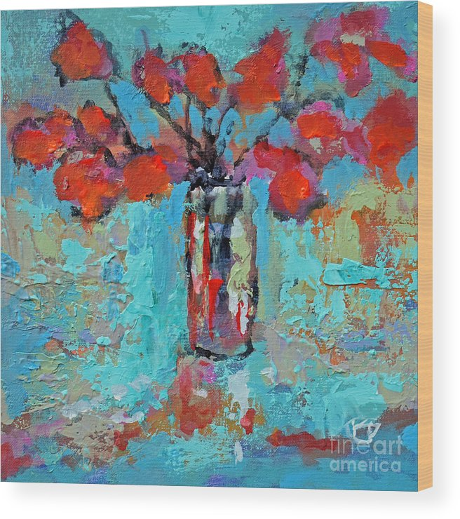 Flowers Wood Print featuring the painting Floral 4 by Kip Decker