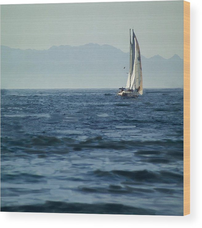 Sailing Wood Print featuring the photograph Full Sails by Lyle Huisken