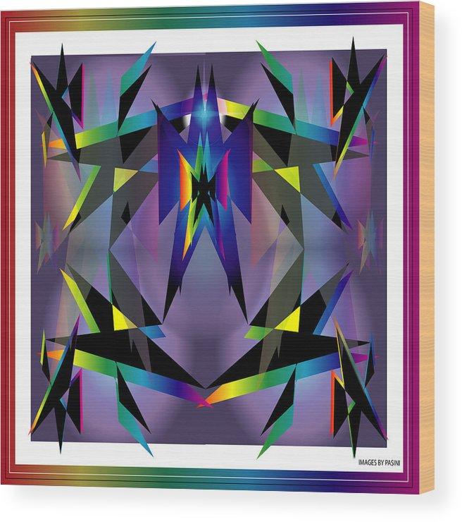 Abstract Wood Print featuring the digital art Geometrics1 by George Pasini