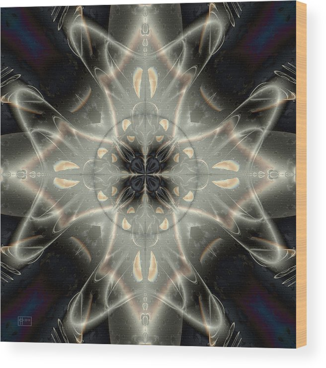 Abstract Wood Print featuring the digital art Ghostly Memories by Jim Pavelle