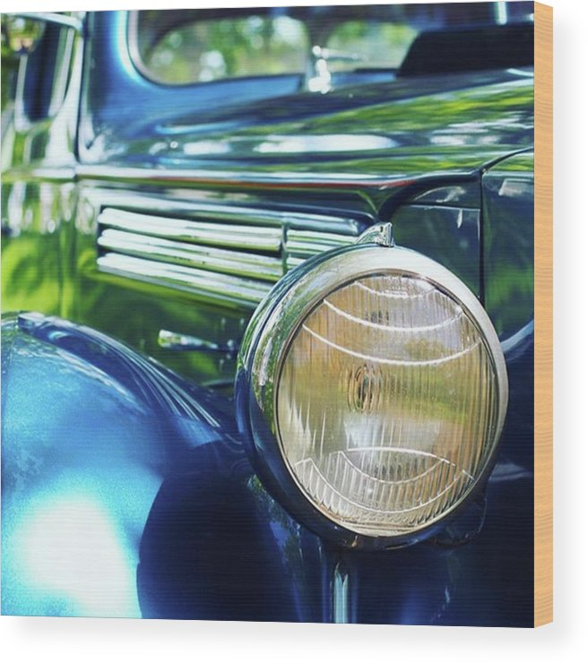 Antique Wood Print featuring the photograph Vintage Packard by Heidi Hermes