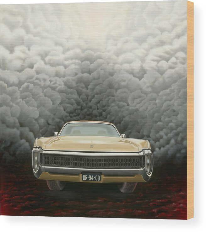 Surreal Wood Print featuring the painting Imperial by Patricia Van Lubeck