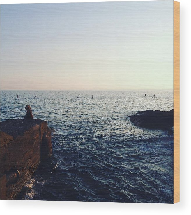 74481793d The Sunset Wood Print featuring the photograph Just Let It Flow Like Water,  by Andreina