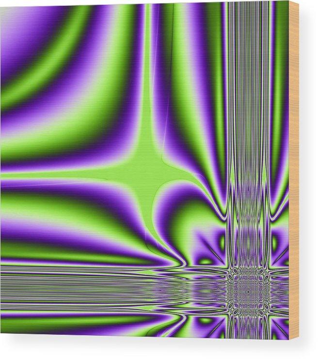 Algoritmic Wood Print featuring the digital art Lighting by Sfinga Sfinga