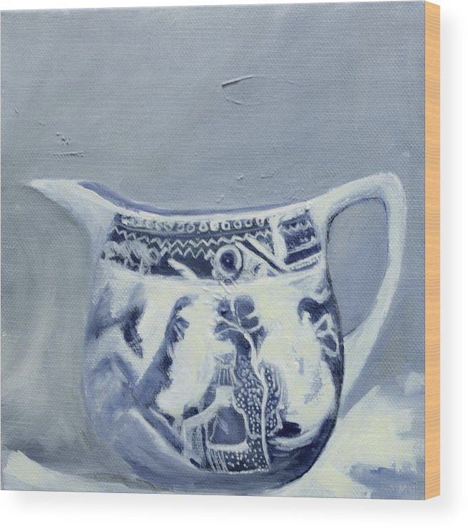 Dutch Wood Print featuring the painting Little Blue Jug by Margie Haslewood