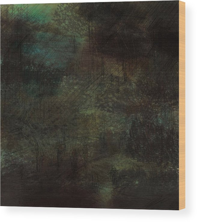 Abstract Wood Print featuring the digital art Lost Memories by Rachel Christine Nowicki
