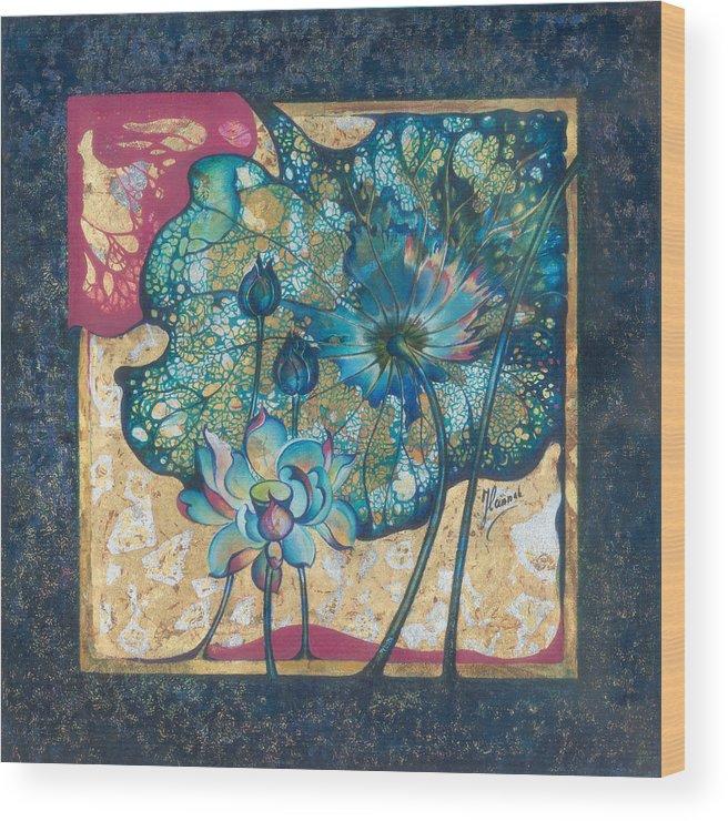 Rebirth Wood Print featuring the painting Metamorphosis by Anna Ewa Miarczynska