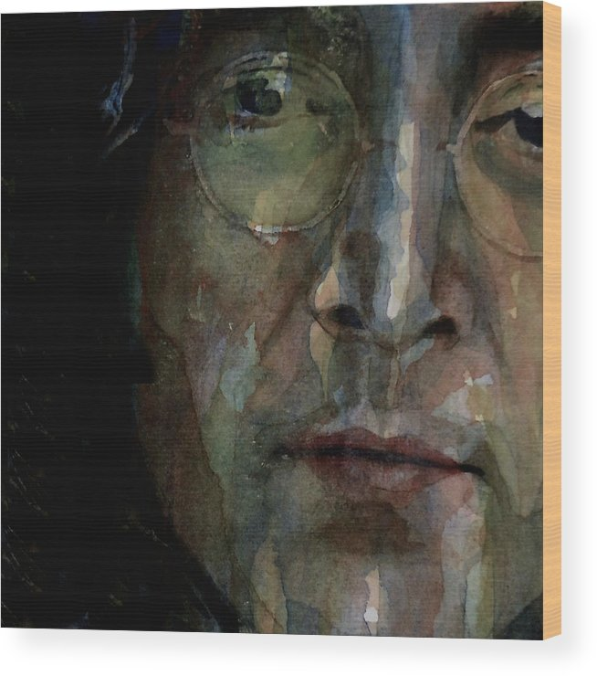 The Beatles Wood Print featuring the painting Nobody Told Me There'd Be Days Like These by Paul Lovering