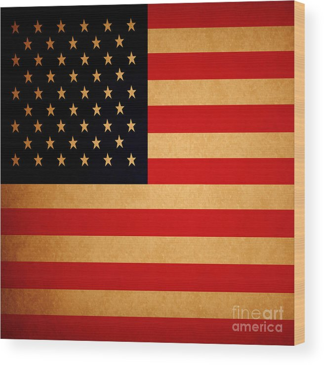 Usa Wood Print featuring the photograph Old Glory . Square by Wingsdomain Art and Photography