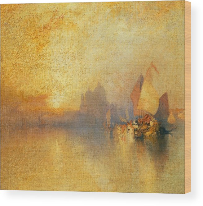 Thomas Moran Wood Print featuring the painting Opalescent Venice by Thomas Moran