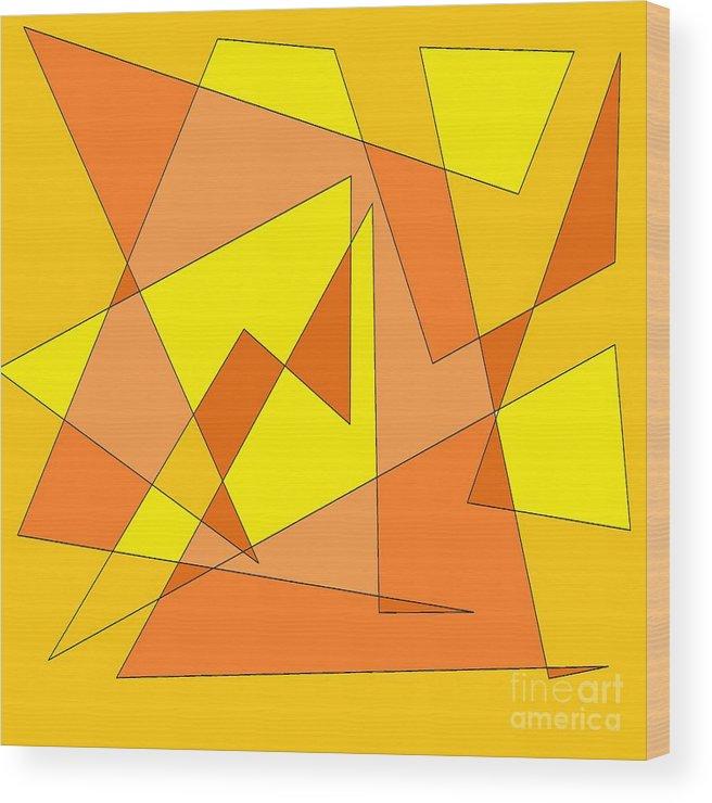 Digital Wood Print featuring the photograph Orange You Banana by Mesa Teresita