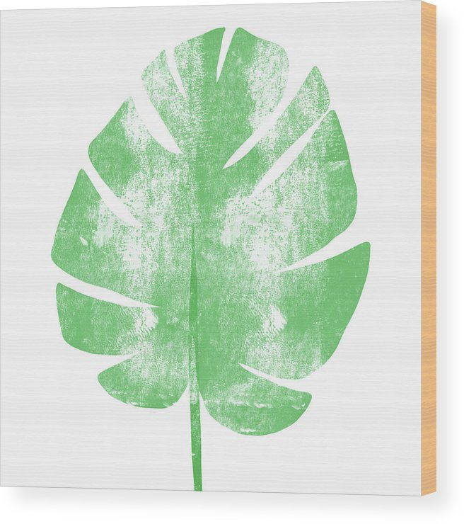 Palm Wood Print featuring the painting Palm Leaf- Art By Linda Woods by Linda Woods