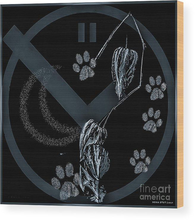 Black And White Wood Print featuring the digital art Perfect Imperfect Bw by Mona Stut