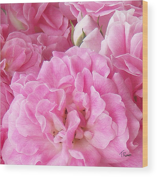 Rose Wood Print featuring the digital art Pink by Tom Romeo