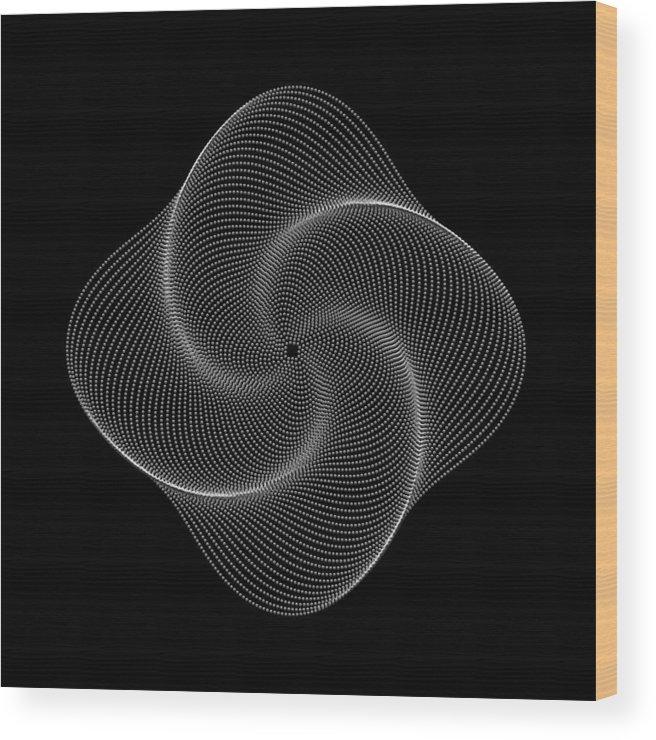 Polar Flower Wood Print featuring the digital art Polar Flower Ivk by Robert Krawczyk
