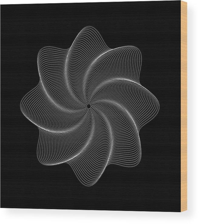 Polar Flower Wood Print featuring the digital art Polar Flower Viiik by Robert Krawczyk