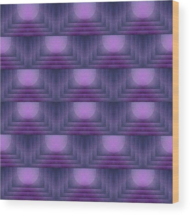 Purple Wood Print featuring the digital art Purple Sun Deco by Patricia Strand