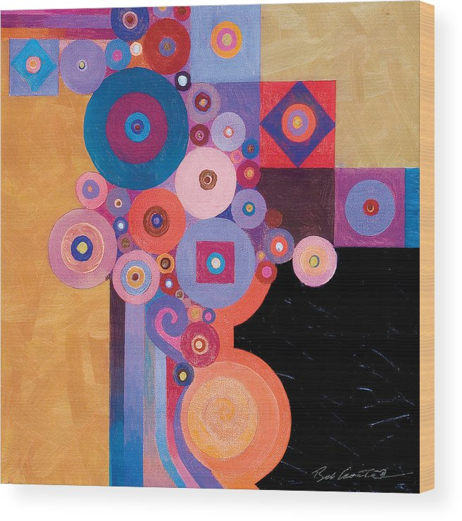 Abstract Painting Wood Print featuring the painting Pythagorean Abstract II by Bob Coonts