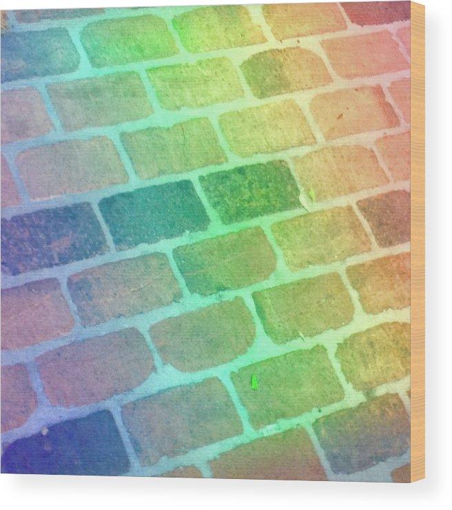 Rainbow Wood Print featuring the photograph Rainbow Reflection by Cory Keene