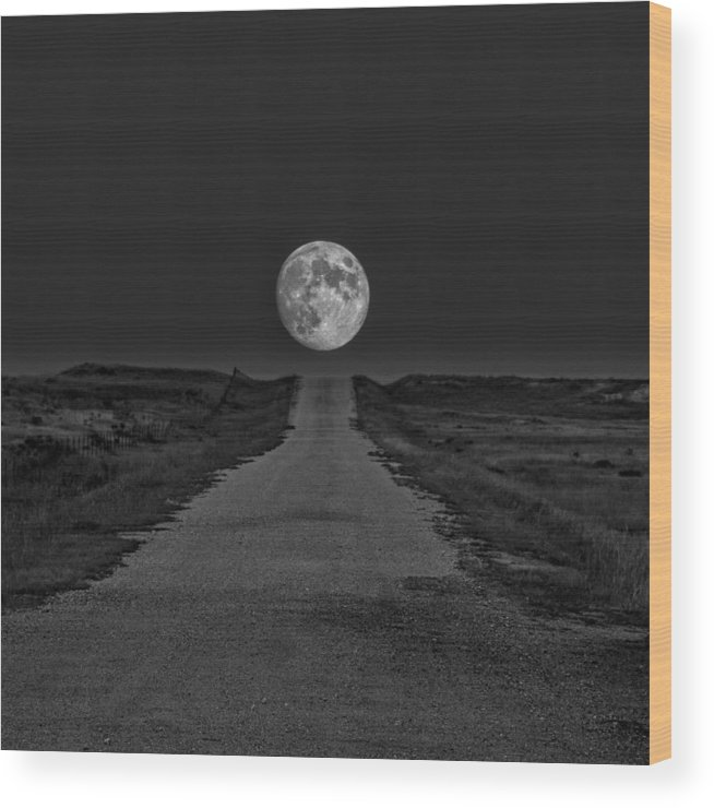Moon Wood Print featuring the photograph Eternity by HW Kateley