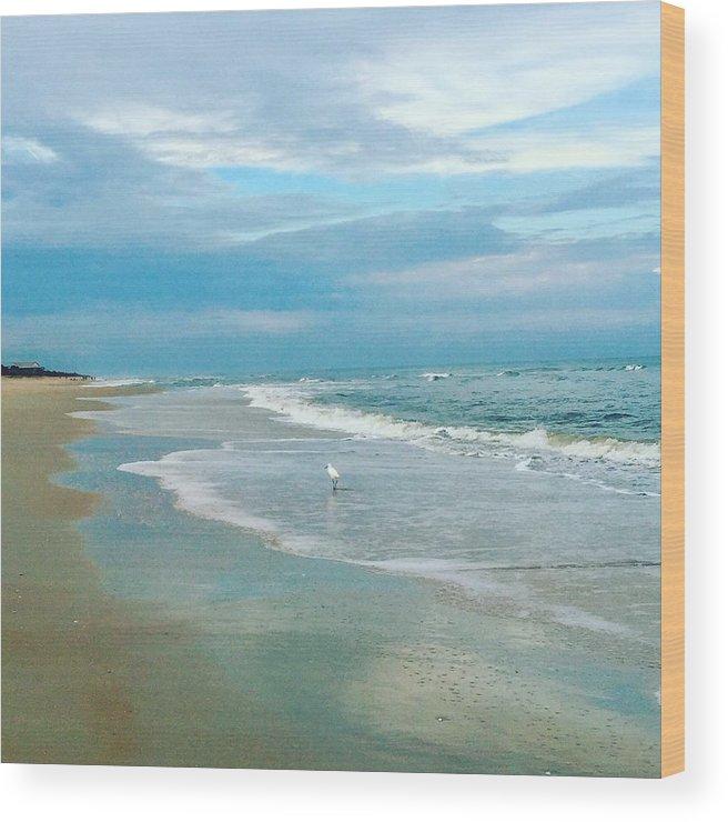 Beach Wood Print featuring the photograph Serenity by Kiesha Katsares