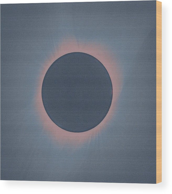 Wood Print featuring the painting Solar Eclipse, As Seen Above Madras, Oregon, U.s. By Nasa 4 by Celestial Images