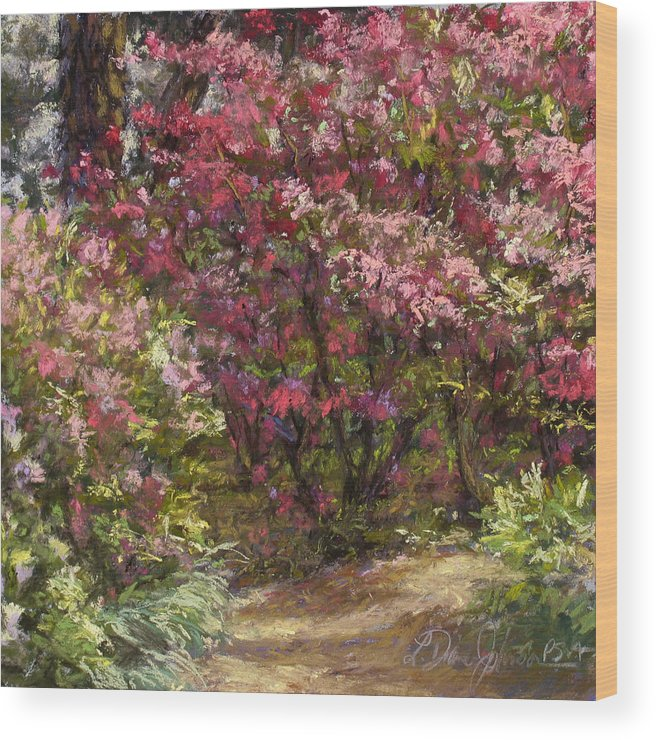 Pastel Painting Wood Print featuring the pastel Solitude by L Diane Johnson
