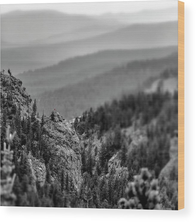 Mountains Wood Print featuring the photograph Soul Searching by Garett Gabriel