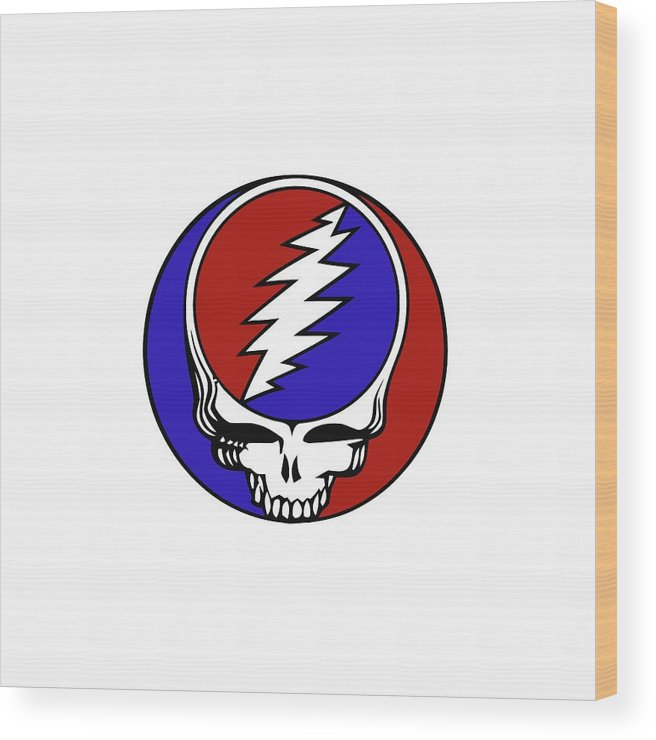 Steal Your Face Wood Print featuring the digital art Steal Your Face by Gd